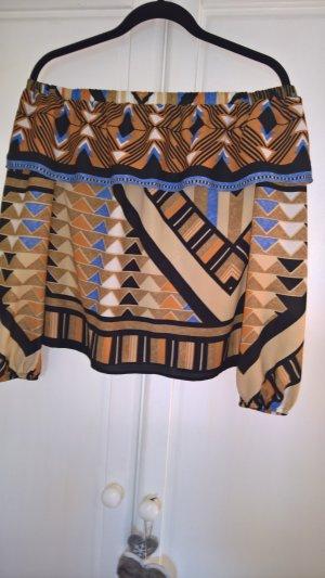 H&M Carmen Blouse multicolored synthetic fibre
