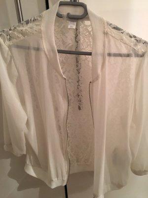Amisu Blusa transparente blanco puro