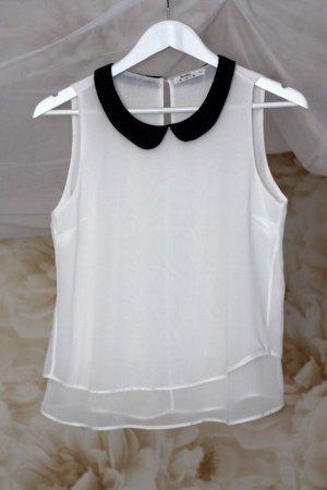 Chiffon Hemdchen mit Bubi Kragen