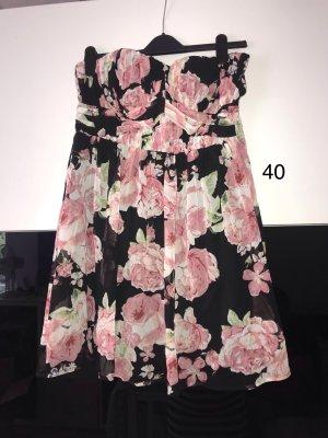 Bodyflirt Chiffon jurk zwart-roze
