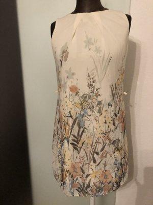 Chiffon Kleid Etuikleid Gr 34 XS