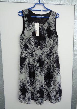 Chiffon Kleid Gr. 38 S schwarz weiß neu Etikett