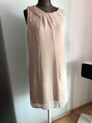 Chiffon Kleid Gr 38 S von Promod beige
