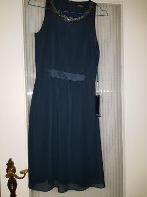 Chiffon Kleid mit Perlen von S.Oliver!