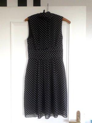b.p.c. Bonprix Collection Vestido de chifón blanco-negro