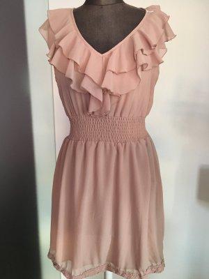 Chiffon Kleid mit Rüschen Spitze Gr 40 42 M L new Look