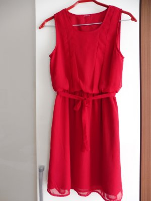 Chiffon Kleid red