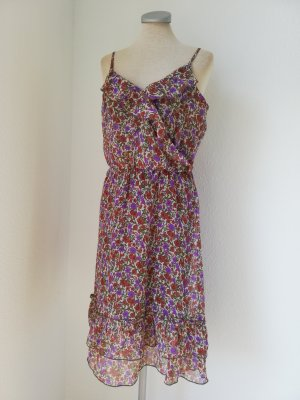 Aniston Robe chiffon multicolore coton