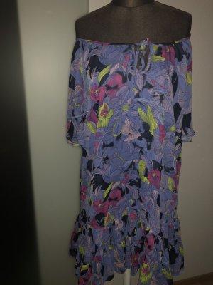 Chiffon Kleid Tunika Volant Gr 36 38 S