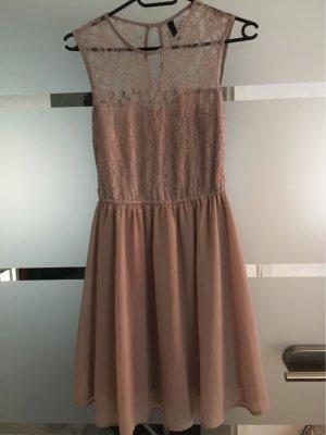 H&M Divided Chiffon Dress rose-gold-coloured