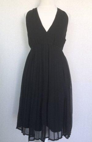 Chiffon - Plissee - Kleid schwarz H&M Gr. 38