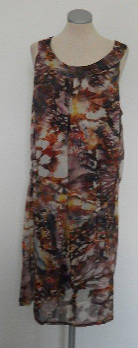 Chiffon Sommer Tunika Kleid Gr. 44 XL UK 16 neu