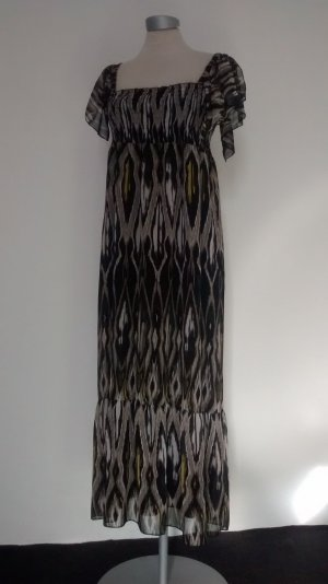 Chiffon Sommerkleid Gr. UK 14 EUR 42 Papaya Maxikleid Kleid lang