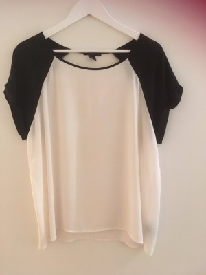 Chiffon Tshirt in schwarz/weiß