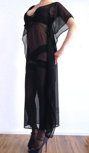 Chiffon Tunika Negligee DOM Kleid schwarz transparent – ONESIZE