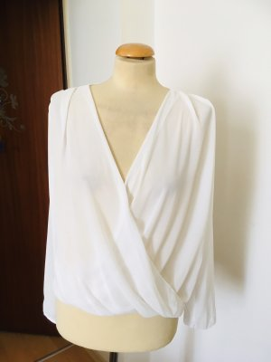 Made in Italy Blouse portefeuille blanc