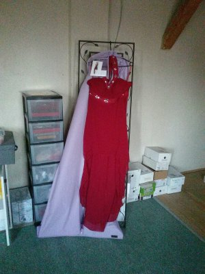 Ball Dress dark red