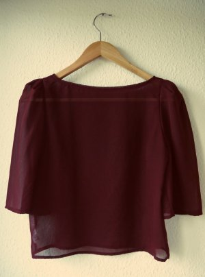 Chiffonbluse in Bordeaux von American Apparel