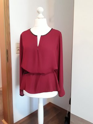 Chiffonbluse in Rot!