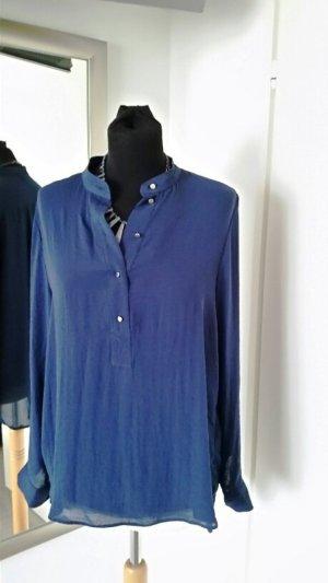 H&M Blouse met lange mouwen blauw Gemengd weefsel