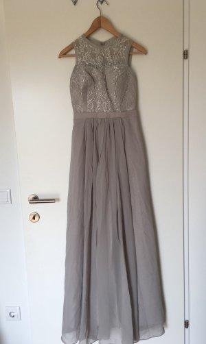Chiffon Dress silver-colored