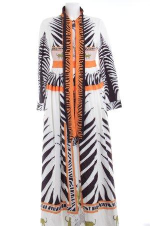 Vestido de chifón estampado con diseño abstracto