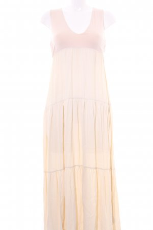 Robe chiffon vieux rose-beige clair style simple