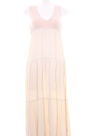 Abito di chiffon rosa antico-beige chiaro stile semplice