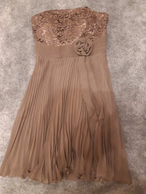 Ashley Brooke Chiffon Dress light brown-beige