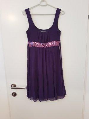 Yessica Chiffon jurk donkerpaars