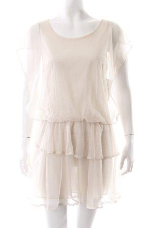 Robe chiffon crème motif de tache style romantique