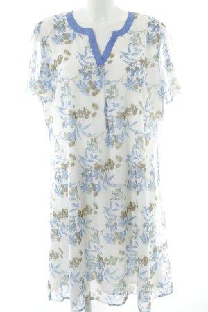Robe chiffon motif floral style romantique