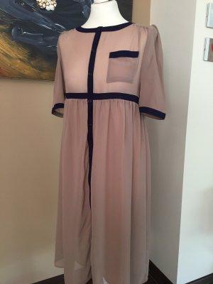 Asos Empire Dress dusky pink-grey lilac polyester