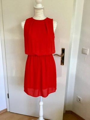 H&M Robe chiffon rouge polyester