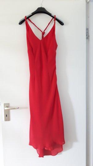 Apart Robe chiffon rouge polyester