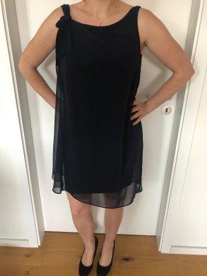 Naf naf Chiffon jurk donkerblauw