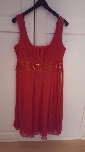 C&A Robe chiffon rouge fluo
