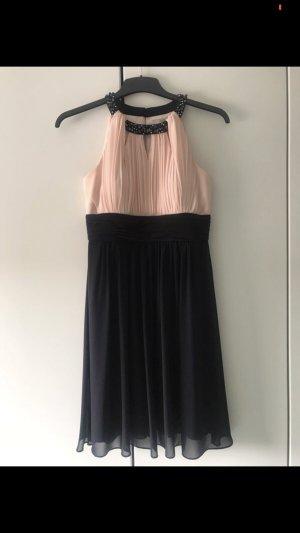 Chiffonkleid rosa/marineblau + Jäckchen