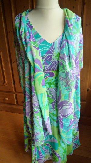b.p.c. Bonprix Collection Robe chiffon multicolore polyester