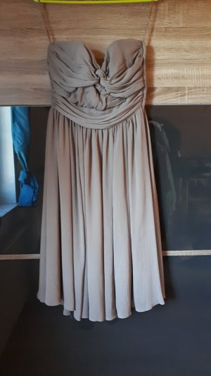 Chiffonkleid, taupe, gr.38