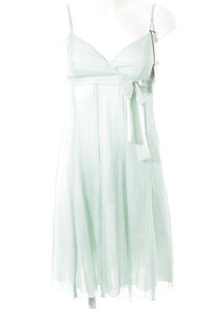 Robe chiffon turquoise élégant