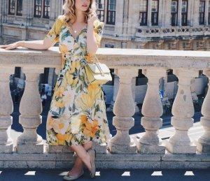 H&M Vestido a media pierna multicolor Poliéster
