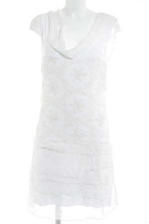 Robe chiffon blanc cassé style décontracté