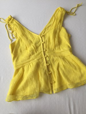 Abercrombie & Fitch Flounce Top yellow