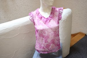Basic Line Flounce Top light pink polyester