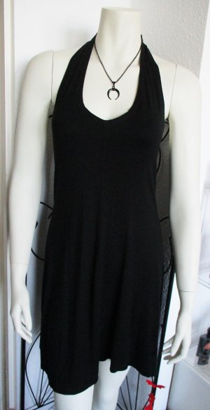 Halter Dress black viscose