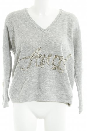 Chill Bang Bang V-Neck Sweater grey casual look