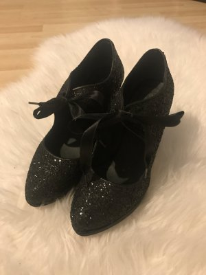 Chillany High Heels schwarz Glitzer 39