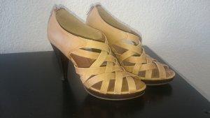 Chillany Leder-High-Heels camel-farben Gr. 38