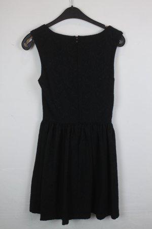 Chilli Kleid Spitzenkleid Gr. XS/S schwarz, dunkelgrün (18/4/344)
